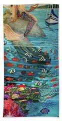 Mermaid In Paradise Towel Version Hand Towel
