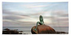 Mermaid Of The North East Bath Towel by Grant Glendinning
