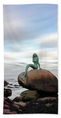 Mermaid Of The North Hand Towel by Grant Glendinning