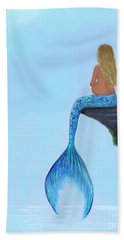 Bath Towel featuring the painting Mermaids Bundle To Be by Leslie Allen