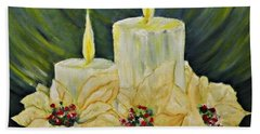 Merry Christmas Hand Towel by AmaS Art
