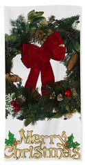Merry Christmas Hand Towel by Kenneth Cole