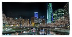 Bath Towel featuring the photograph Merry Christmas Omaha by Susan Rissi Tregoning
