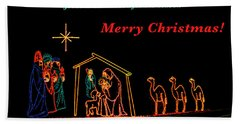 Hand Towel featuring the photograph Merry Christmas by Penny Lisowski