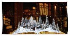 Merry Christmas Scene Hand Towel