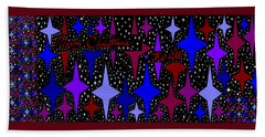 Merry Christmas To All, Starry, Starry Night Bath Towel by Linda Velasquez