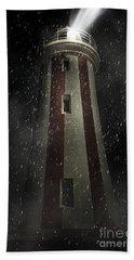 Mersey Bluff Lighthouse In Devonport. Fine Art Hand Towel