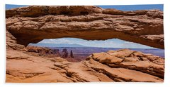 Hand Towel featuring the photograph Mesa Arch Canyonlands by Brenda Jacobs