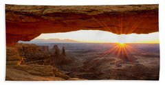 Mesa Arch Sunrise - Canyonlands National Park - Moab Utah Bath Towel by Brian Harig