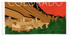 Mesa Verde Orange Hand Towel