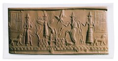Mesopotamian Gods Bath Towel