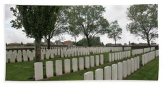 Hand Towel featuring the photograph Messines Ridge British Cemetery by Travel Pics