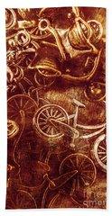 Messy Bike Workshop Hand Towel
