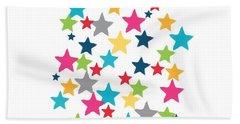 Messy Stars- Shirt Bath Towel