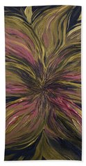 Metallic Flower Bath Towel
