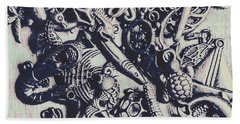 Metallic Seas Hand Towel