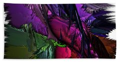 Hand Towel featuring the digital art Metallic Spring by Sara Raber