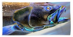 Metallic Trout Bath Towel by Phyllis Beiser