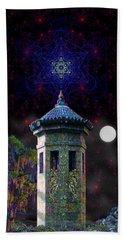 Bath Towel featuring the digital art Metatron Nocturnal by Iowan Stone-Flowers