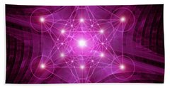 Metatron's Cube Bath Towel