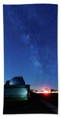 Meteor And Observatory Bath Towel by Jay Stockhaus