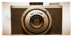 Bath Towel featuring the photograph Meteor Film Camera by Mike McGlothlen
