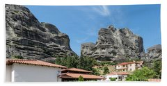 Meteora In Greece Hand Towel