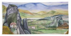 Meteora Hand Towel by Teresa Beyer