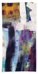 Metro 1- Abstract Art By Linda Woods Hand Towel