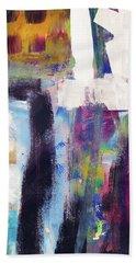 Metro 1- Abstract Art By Linda Woods Bath Towel