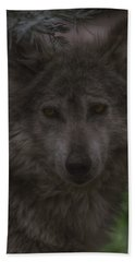 Mexican Grey Wolf Hand Towel