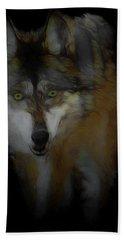Mexican Grey Wolf Da2 Hand Towel