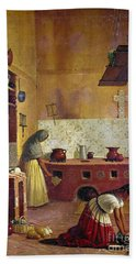 Mexico: Kitchen, C1850 Bath Towel