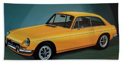 Mgb Gt 1966 Painting  Hand Towel