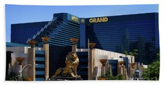Mgm Grand Hotel Casino Hand Towel by Mariola Bitner