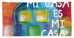 Mi Casa Es Mi Casa- Art By Linda Woods Hand Towel