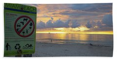 Miami Beach Sunrise Bath Towel