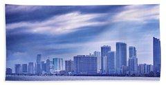 Miami Blues Hand Towel by Iryna Burkova Goodall