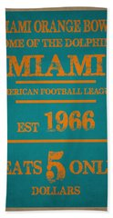 Miami Dolphins Sign Hand Towel