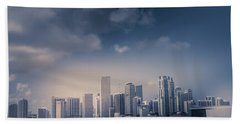 Miami Skyline Hand Towel