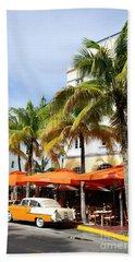 Miami South Beach Ocean Drive 8 Bath Towel by Nina Prommer