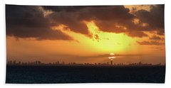 Miami Sunset Bath Towel by Arthur Dodd