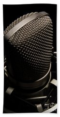Hand Towel featuring the photograph Mic by Brian Jones
