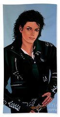 Michael Jackson Bad Hand Towel by Paul Meijering