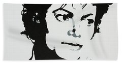 Michael Jackson Hand Towel by Katharina Filus