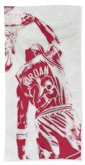 Michael Jordan Chicago Bulls Pixel Art 1 Bath Towel