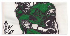 Bath Towel featuring the drawing Micheal Vick by Jeremiah Colley