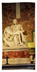 Michelangelo Masterpiece Of A Mother's Love Bath Towel