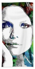 Michelle Pfeiffer Hand Towel by Mihaela Pater