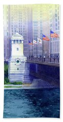 Michigan Avenue Bridge Bath Towel